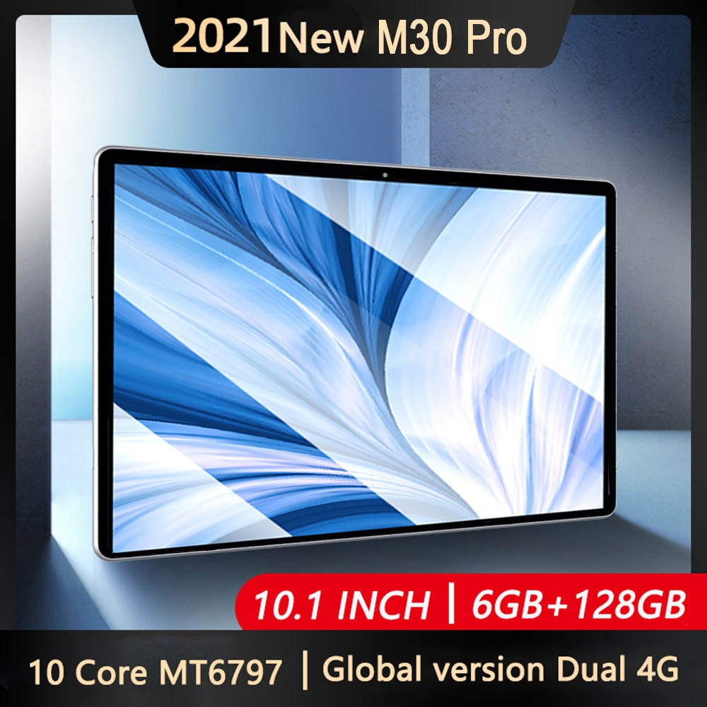 10INCH M30 Pro Android 10 Tablet 1920x1200 IPS 10Core 6GB RAM 128GB ROM Android Tablet Dual 4G Table