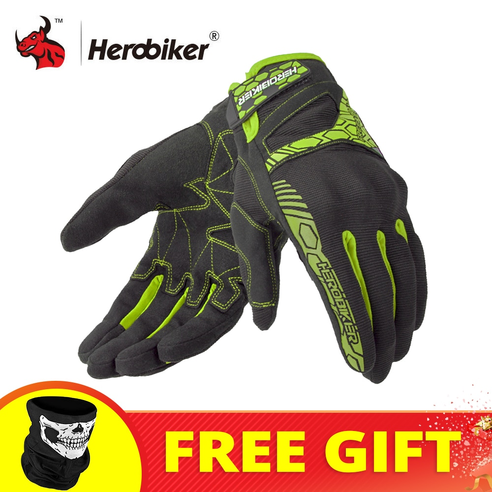 HEROBIKER Motorcycle Gloves Guantes Moto Summer Racing Motocross Gloves Breathable Off-Road Riding Motorbike Gloves Touch Screen