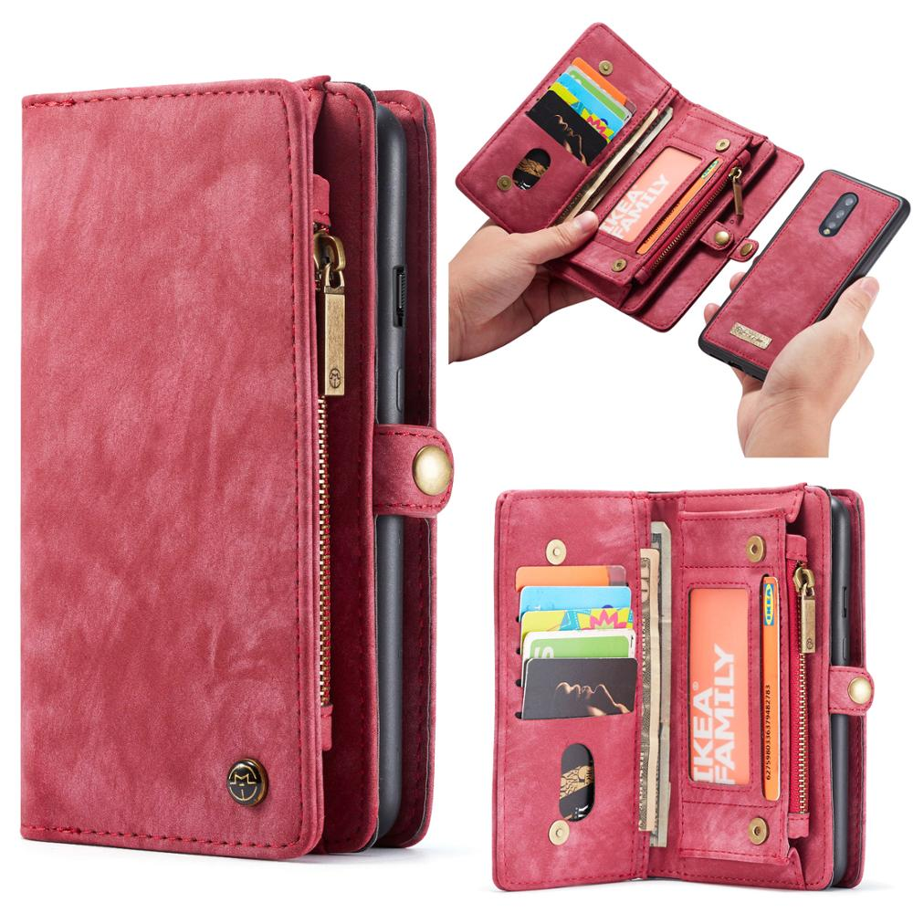 Funda de cuero CaseMe para Oneplus 7 Pro multifunción cartera magnética fundas con tapa para One Plus 7 1 + 7 Pro negocio funda de teléfono Coque