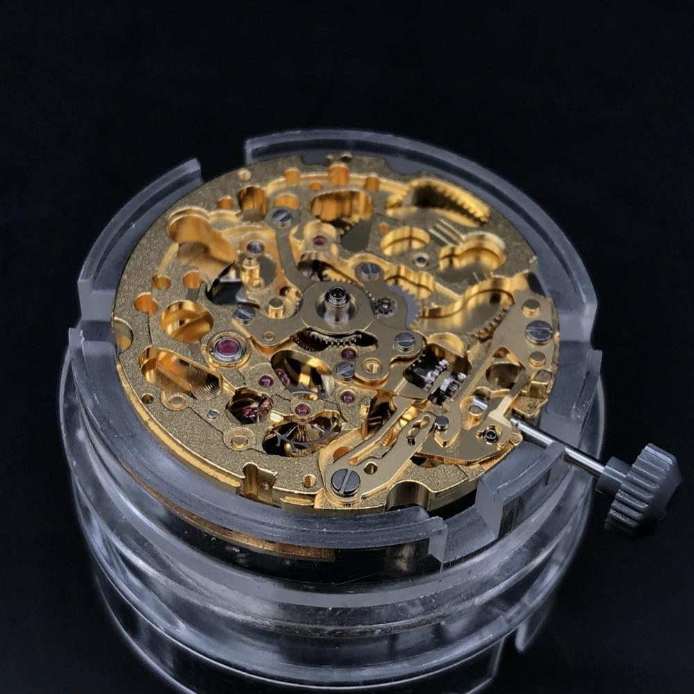 Original Japan Miyota 8N24 Skeleton Mechanical Movement  Automatic Self-winding Movement Steel Silver 21 Jewels Top Quality enlarge