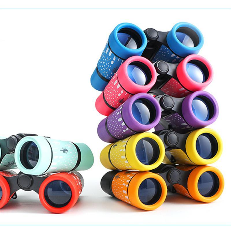1pc dzieci teleskop zabawki dla dzieci lornetki drukowane antypoślizgowe lornetki trwałe oglądanie przyrody dla dzieci kolorowe
