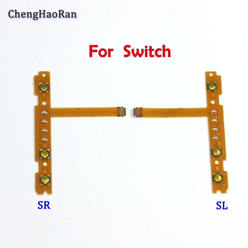 chenghaoran 50 100 pcs for iphone 4 4s new power volume switch key button replacement ChengHaoRan NEW Replacement part SL SR Button Flex Cable for Nintend NS Switch Joy-Con left right Button Key Flex Cable