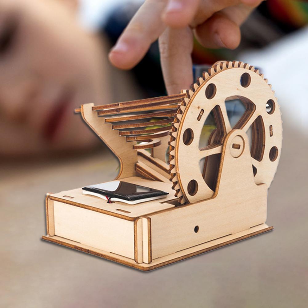 развивающие игрушки Wooden Puzzle DIY Assembly Solar Powered Handcraft 3D Educational Model Toys for Kids развивающие игрушки