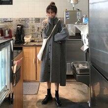 Long-Sleeved Sweater Female Non-mainstream Knitted Autumn Winter Retro Skirt Sneaky Design Dress Nor