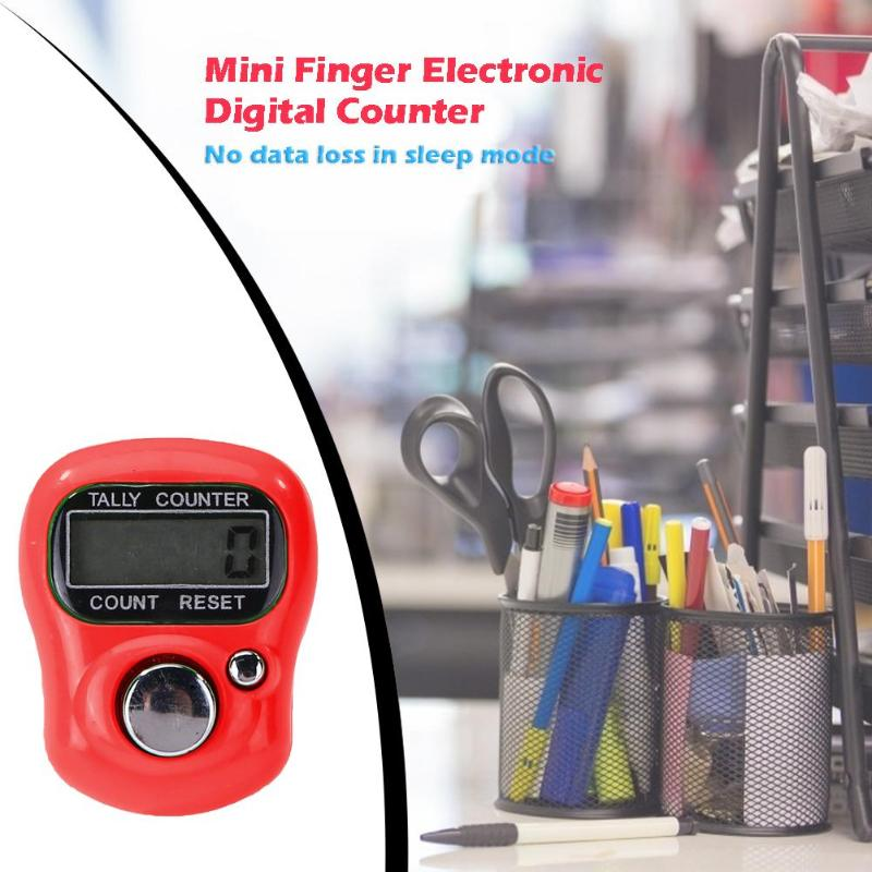 Portátil Mini contador puntada marcador fila dedo precisión practicidad contador LCD Digital electrónico AG3 botón batería