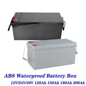 Battery Box Lifepo4 12V 24V 48V 120ah 180ah 200ah 280ah Lifepo4 Batteri Box Camper RV Batteri Solar Cells Plastic Battery Case