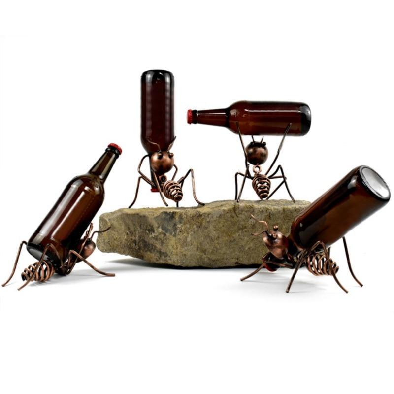 Botellero creativo pequeño para vino, estante para vino, decoración para cócteles, mesa de comedor, soporte para vino, botella, gabinete de vino, Bar, mostrador Interior #