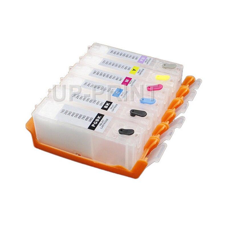 A PGI280 PGI-280 CLI-281 recarga de tinta cartucho para Canon PIXMA TS8120 TS9120 TR7520 TR8520 TS6120 TS6220 TS9521C TS9520 impresora
