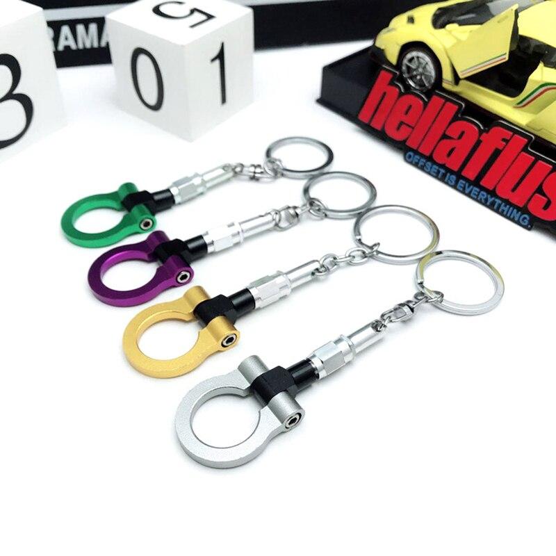 LLavero de Metal de alta calidad con gancho para remolque de coche, llavero hellaflush JDM, accesorios para coche de carreras