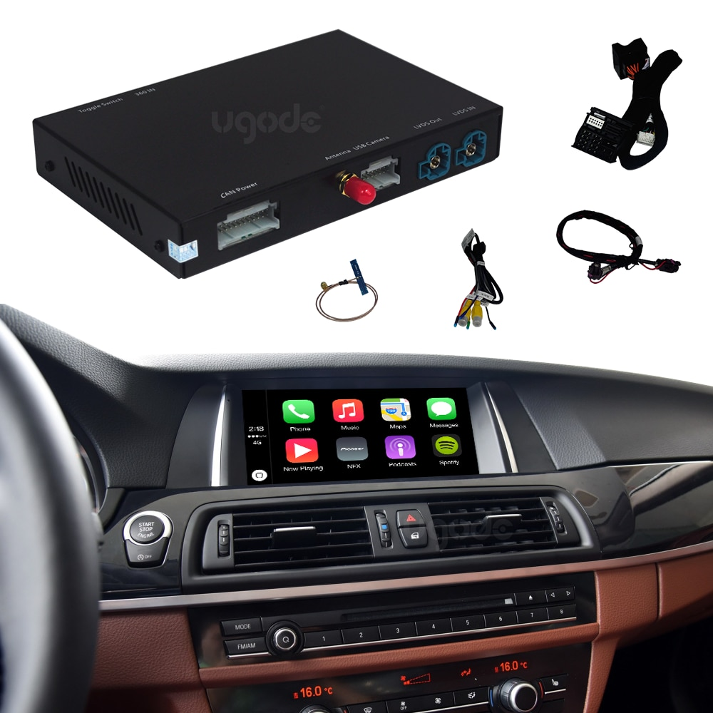 Promo Ugode wireless Car play carplay inerface box For Apple iOS Android Auto mobile for BMW NBT OE Radio Screen
