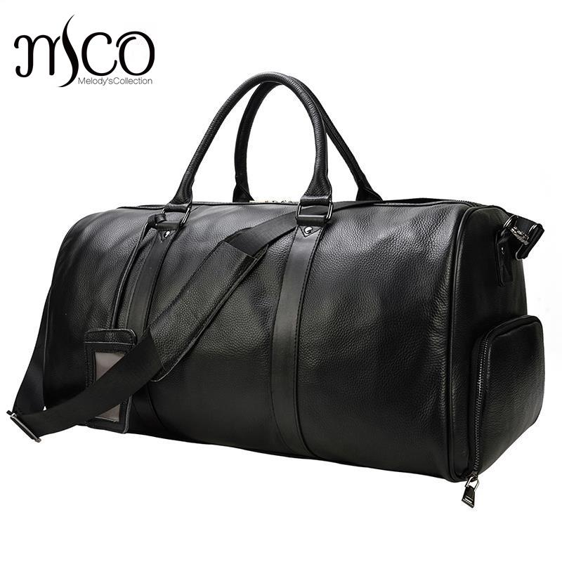 Hand Carry Luggage For Men Cabin Bag Male Duffle Bag Men Travel Handbag Duffle Bag Large Pure Leather Carry On Bags Weekend