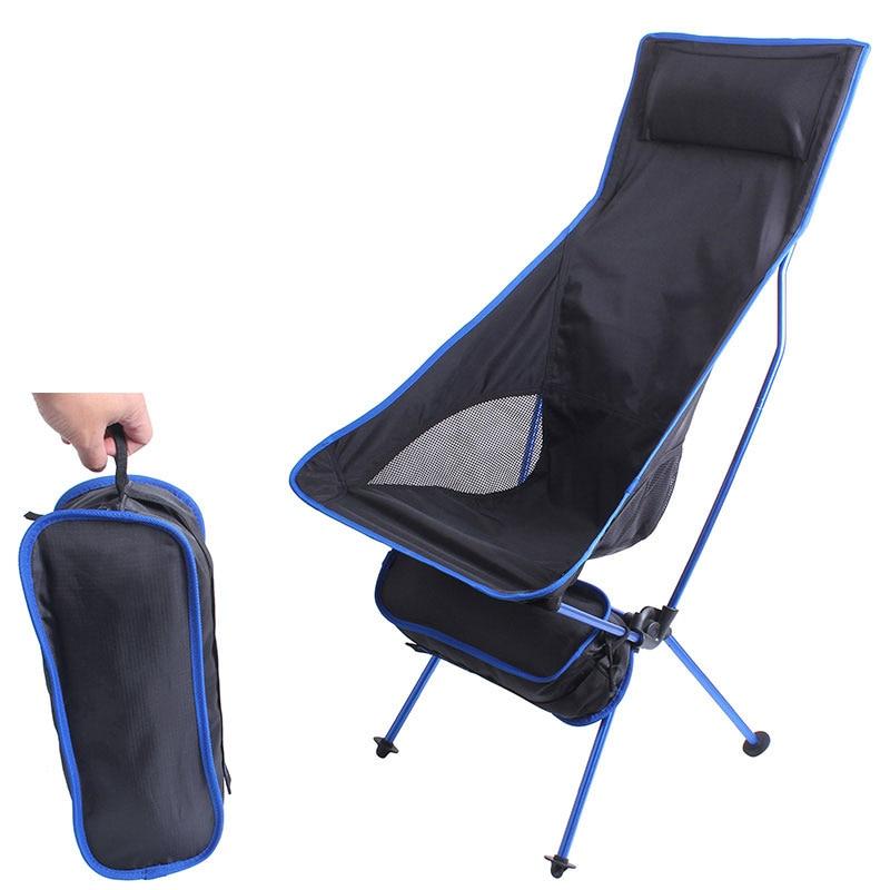 Outdoor Camping Ultralight Folding Chair Travel Chair Fishing BBQ Hiking Strong High Load 150kg Beach Oxford Cloth Fishing Chair