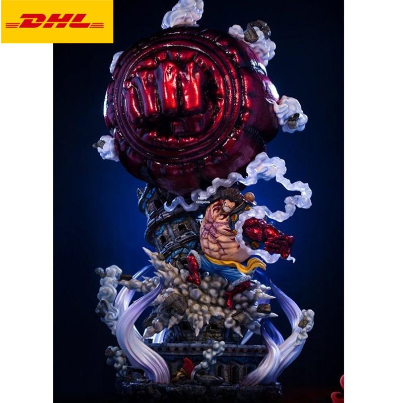 """Figura de acción de One Piece de 43 """", figura de acción de los piratas Bust Gear Fourth Luffy, retrato de dibujos animados GK, juguete de 110CM V420"""