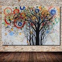 Arthyx peinture peint à la main arbres paysage peintures à lhuile sur toile moderne abstraite affiches Art mural pour salon décor à la maison