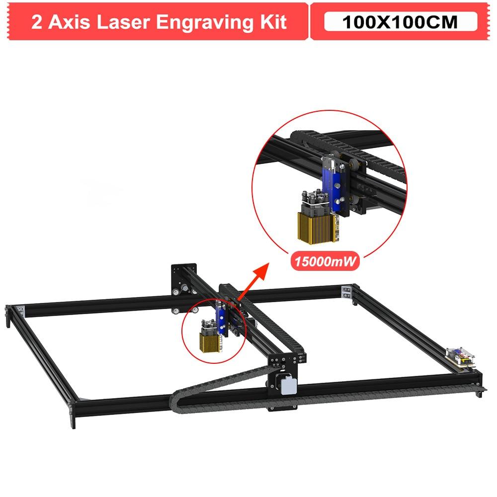 15000mW 100*100 سنتيمتر 2 محور 15 واط الخشب ماكينة الحفر بالليزر سطح المكتب لتقوم بها بنفسك حفارة القاطع جهاز توجيه الخشب عدة