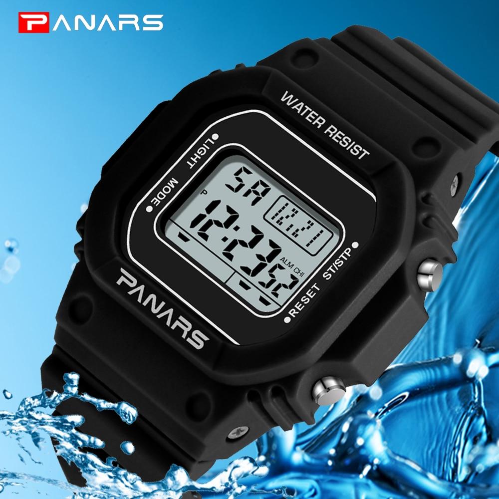 Reloj de pulsera marca PANARS para hombre y mujer, reloj militar deportivo resistente al agua estilo G, relojes digitales de lujo para hombre, reloj Masculino