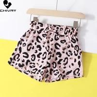new 2021 girls summer beach shorts kids baby girls leopard print shorts little girls children fashion short pants clothes