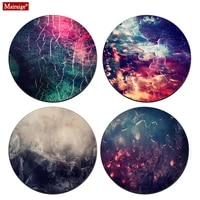 black mouse pad small colour texture abstract visual artspattern game computer pads round mousepad diy custom desk pad 20x20cm