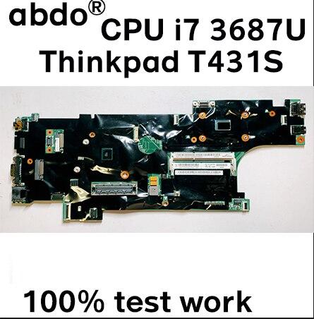 Para lenovo thinkpad t431s notebook placa-mãe fru 04x0792 cpu i7 3687u ddr3 100% trabalho de teste