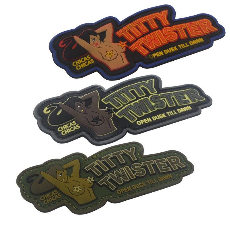 ПВХ патч TITTY TWISTER модный тактический военный боевой крюк патч Резиновые нашивки повязка боевые значки на одежду рюкзак
