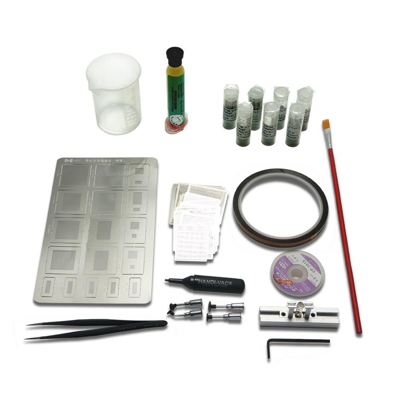 Estênceis + Pasta de Solda Kit para Smt Reballing Diretamente Universal Calor Bolas Estação Rework Repair Bga