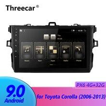 Autoradio 2 din GPS   Navigation multimédia, 3 go/4G, Android 9.0 PX6, 4 go + 32 go pour 2006-2013 pour Toyota Corolla DAB + no dvd TDA 7851