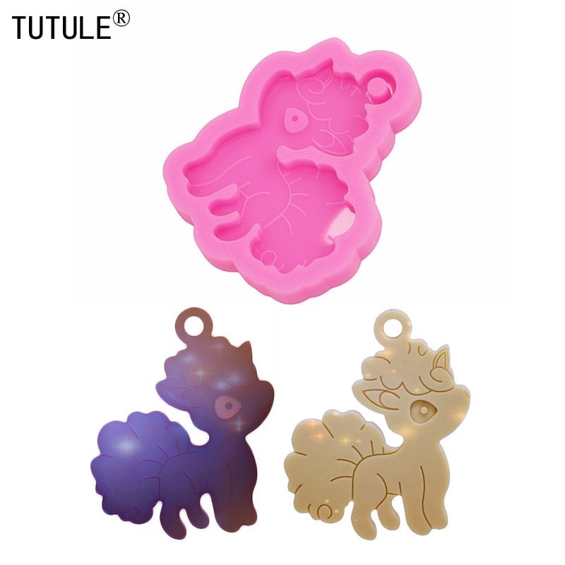 Fox Mold,Pokemon Shiny Silicone Mold,Keychain,Epoxy Resin earring,Polymer Clay Mold | Resin Crafting Flexible Molds