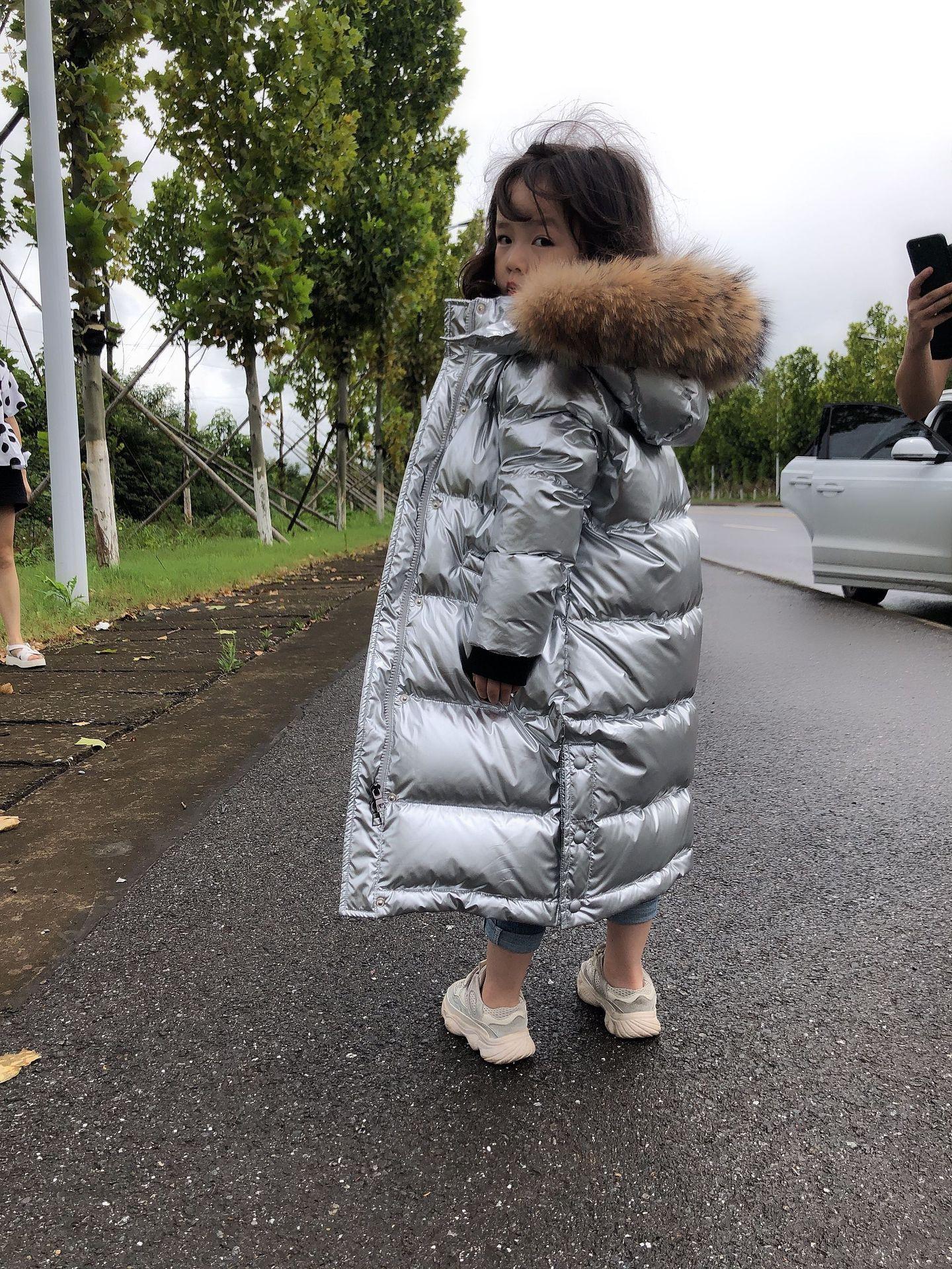 Olekid 2020 russo inverno para baixo jaqueta para meninas à prova dwaterproof água brilhante quente meninas casaco de inverno 5-14 anos adolescente parka snowsuit
