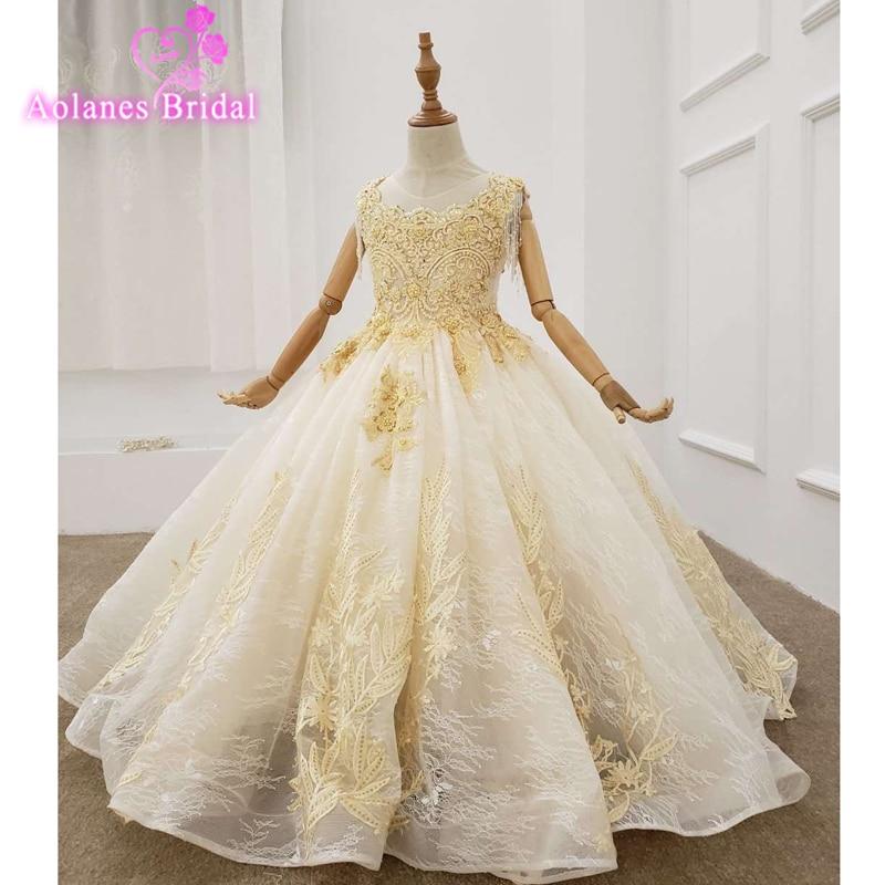 الدانتيل تول الوردي الكرة ثوب زهرة فتاة فساتين ل الزفاف كامل طويل الأكمام بالتواصل فساتين Vestido Daminha