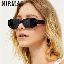 Rectangle Sunglasses Women Vintage Brand Designer Square Sun Glasses Shades Female UV400 Polycarbona