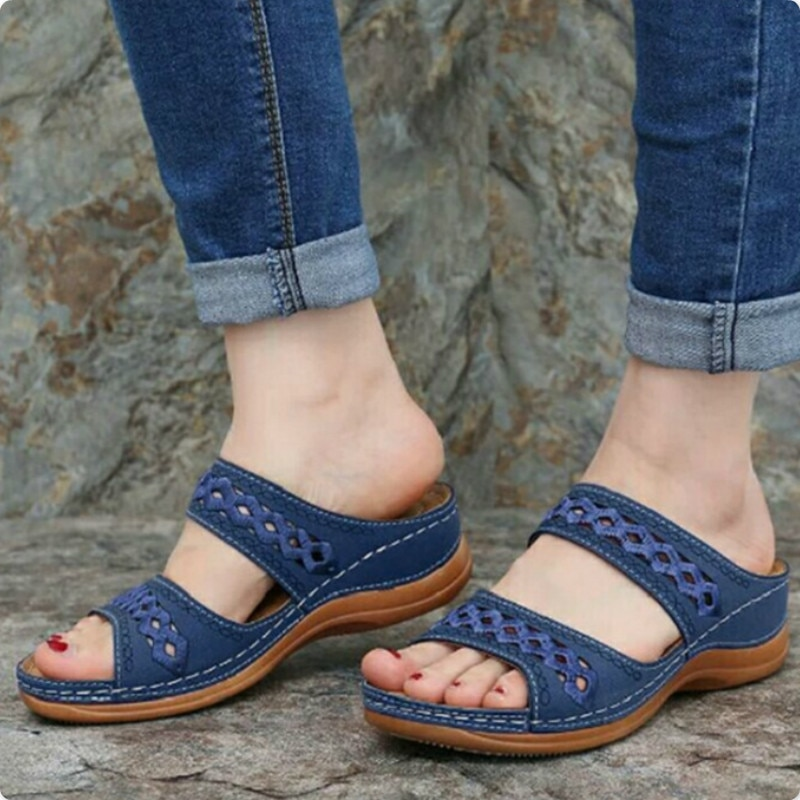Sommer Frauen Hausschuhe Gladiator Casual Schuhe Keile Plattform Strand Maultiere Damen Rutschen Party Sandalen Flip-Flops Zapatos De Mujer