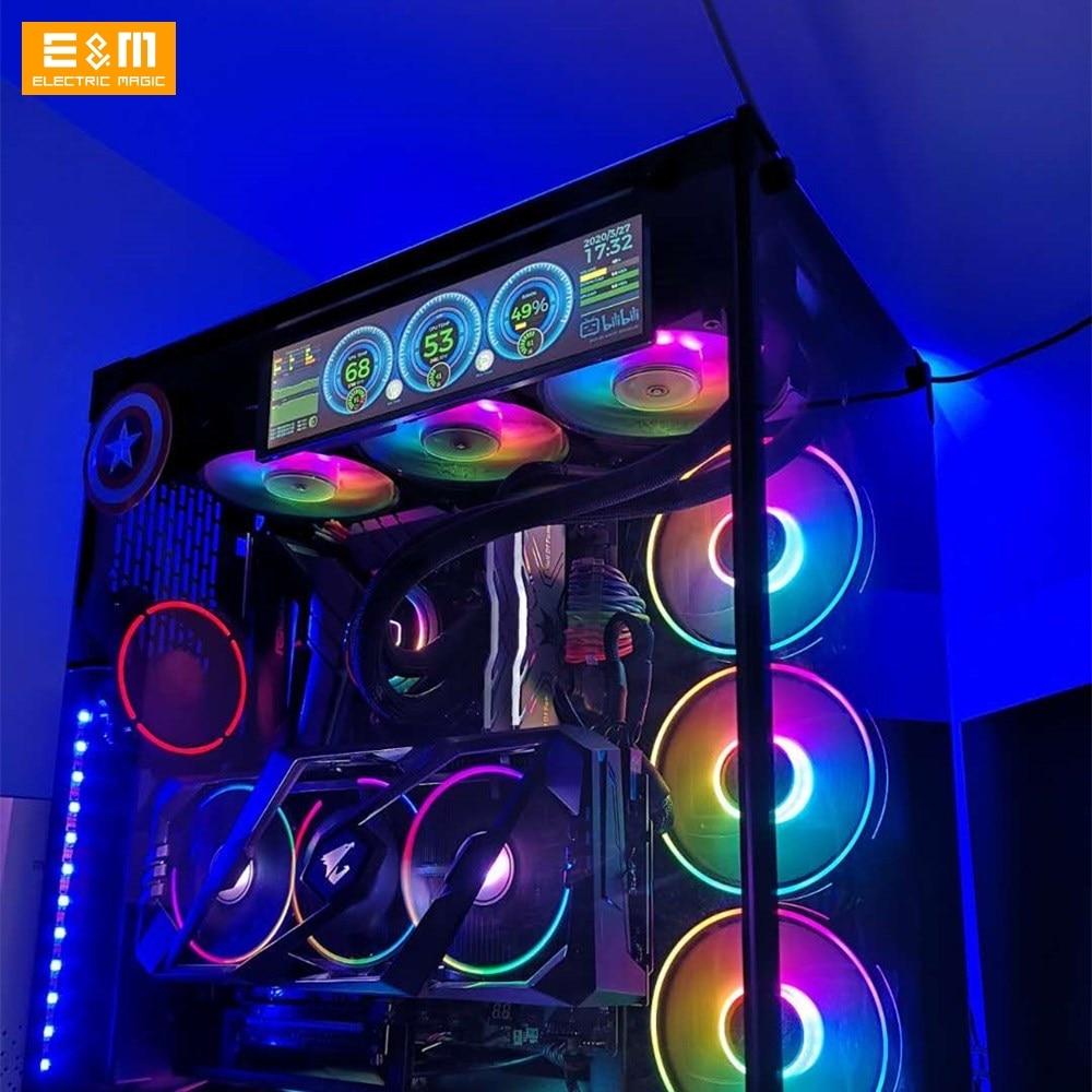 8.8 Inch 1920*480 Screen For Aida64 PC Case CPU GPU Fan Computer Temperature Memory 14 Inch 4K 3840*1100 DIY Kits Cars IPS LCD