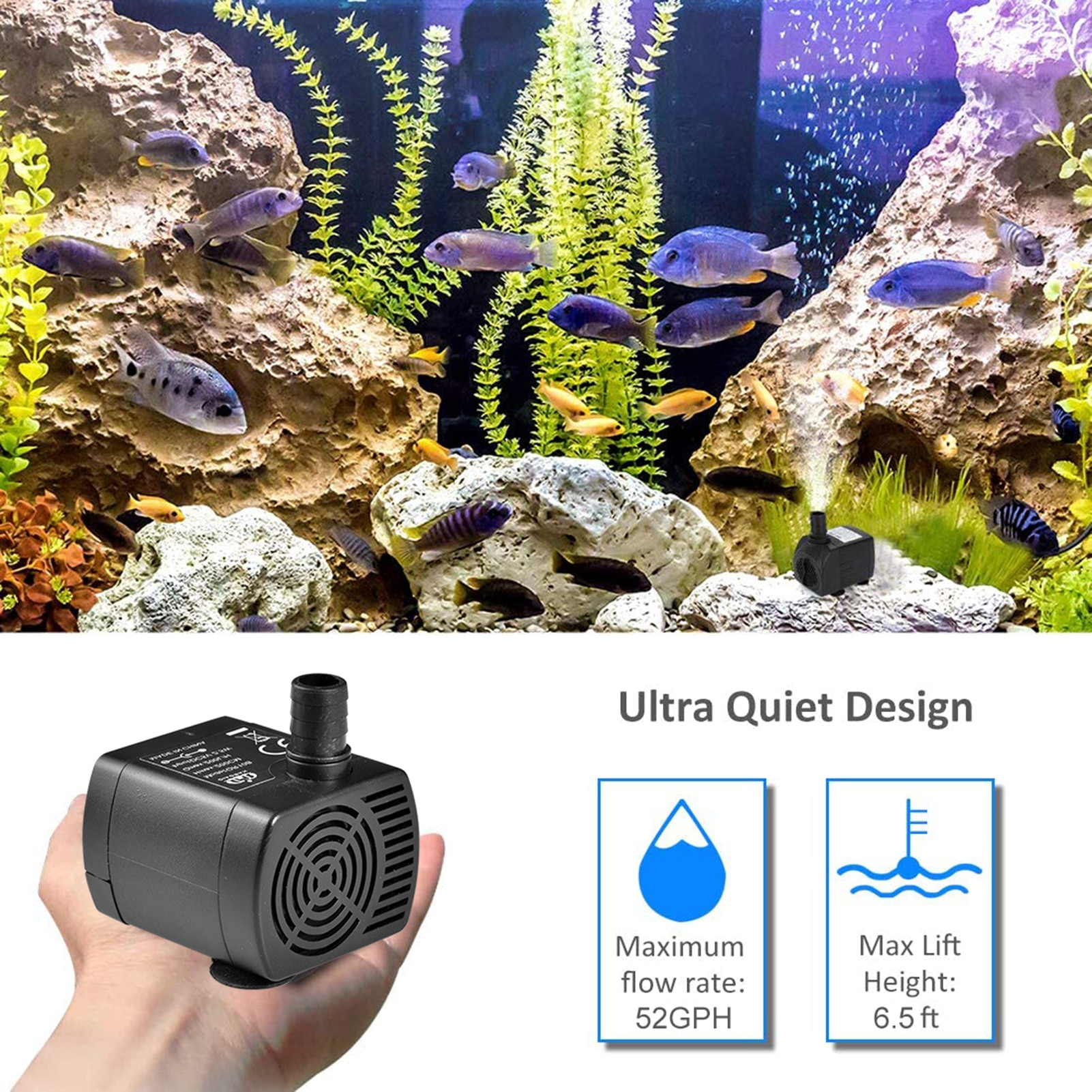 home intelligent water heater circulation system water pump air can automatically return water pump circulation pump Circulation Mini Water Pump Low Noise 2M DC 5V Pump For Fish Tank 52GPH Miniature DC Brushless Hot Water Circulation Pump Hot