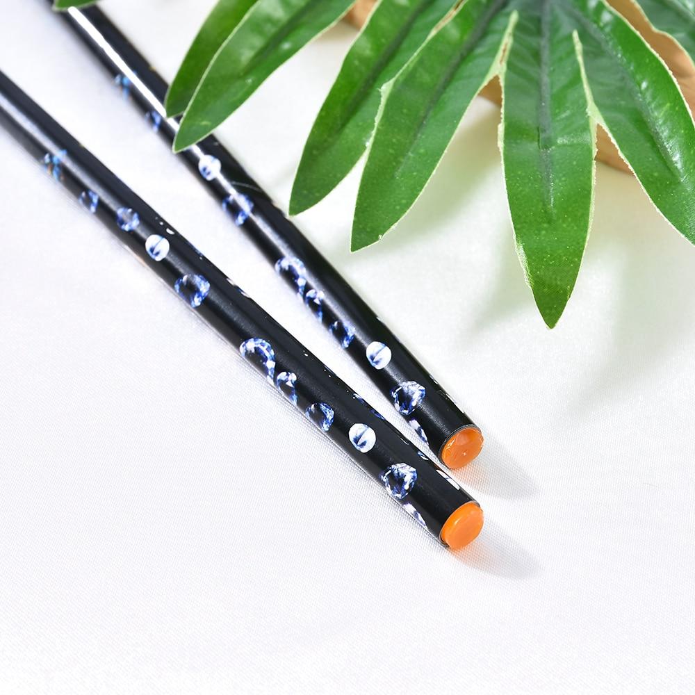 1 pièces ramasser stylo cire résine strass Picker crayon artisanat Nail Art longue taille ongles accessoires conceptions Point Point peinture stylo