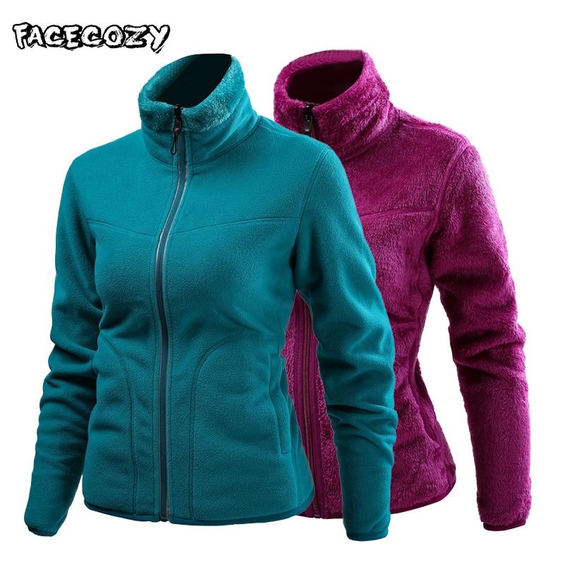 Facecozy Men Women Outdoor Hiking Fleece Winter Jackets Male Female Sports Camping Warm Jacket for Fishing Skiing Climbing