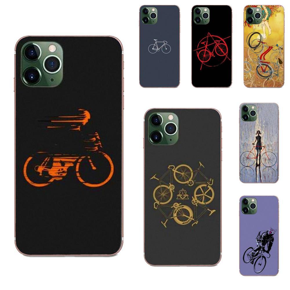 Bike Cycling Art Soft Cases Fundas For Huawei Honor Mate 7 7A 8 9 10 20 V8 V9 V10 V30 P40 G Lite Play Mini Pro P Smart