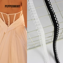 3 Yards Elastic U-wave Band Wedding Dress Buttonhole Braided Lace Band Curved DIY Sewing Clothes Accessory