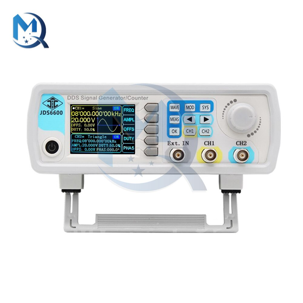 DC5V JDS6600-60M 60MHz Signal Generator DDS Function Digital Control Dual-channel Frequency Meter Arbitrary Waveform Generator
