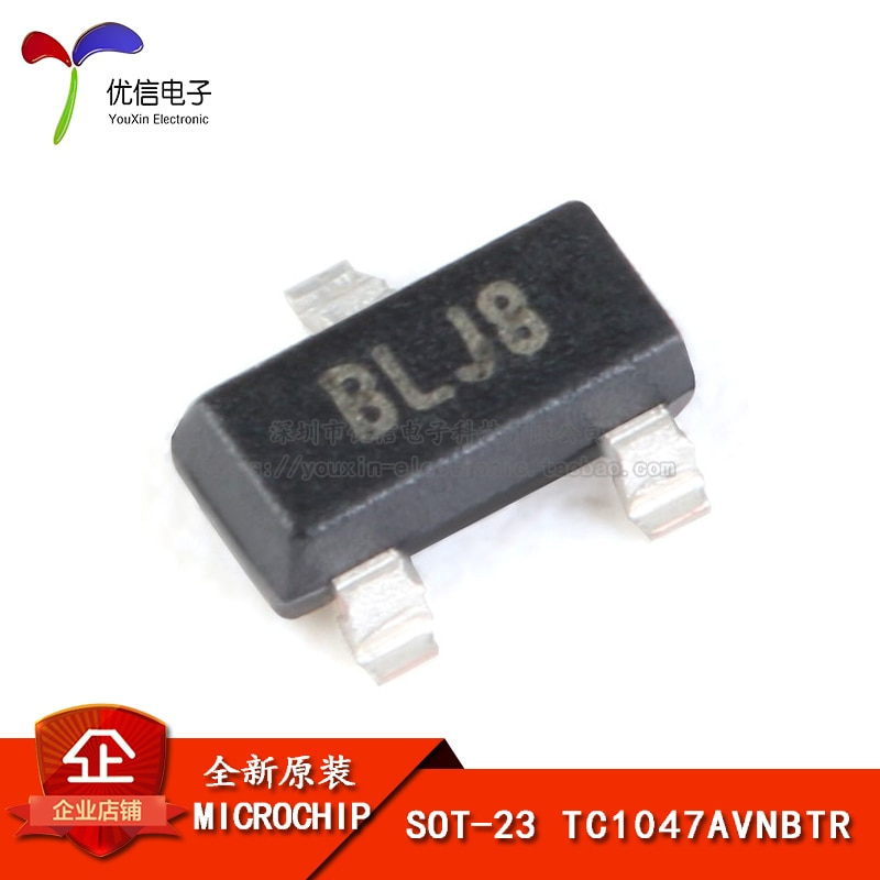 Genuine original patch TC1047AVNBTR SOT-23 temperature sensor-voltage converter