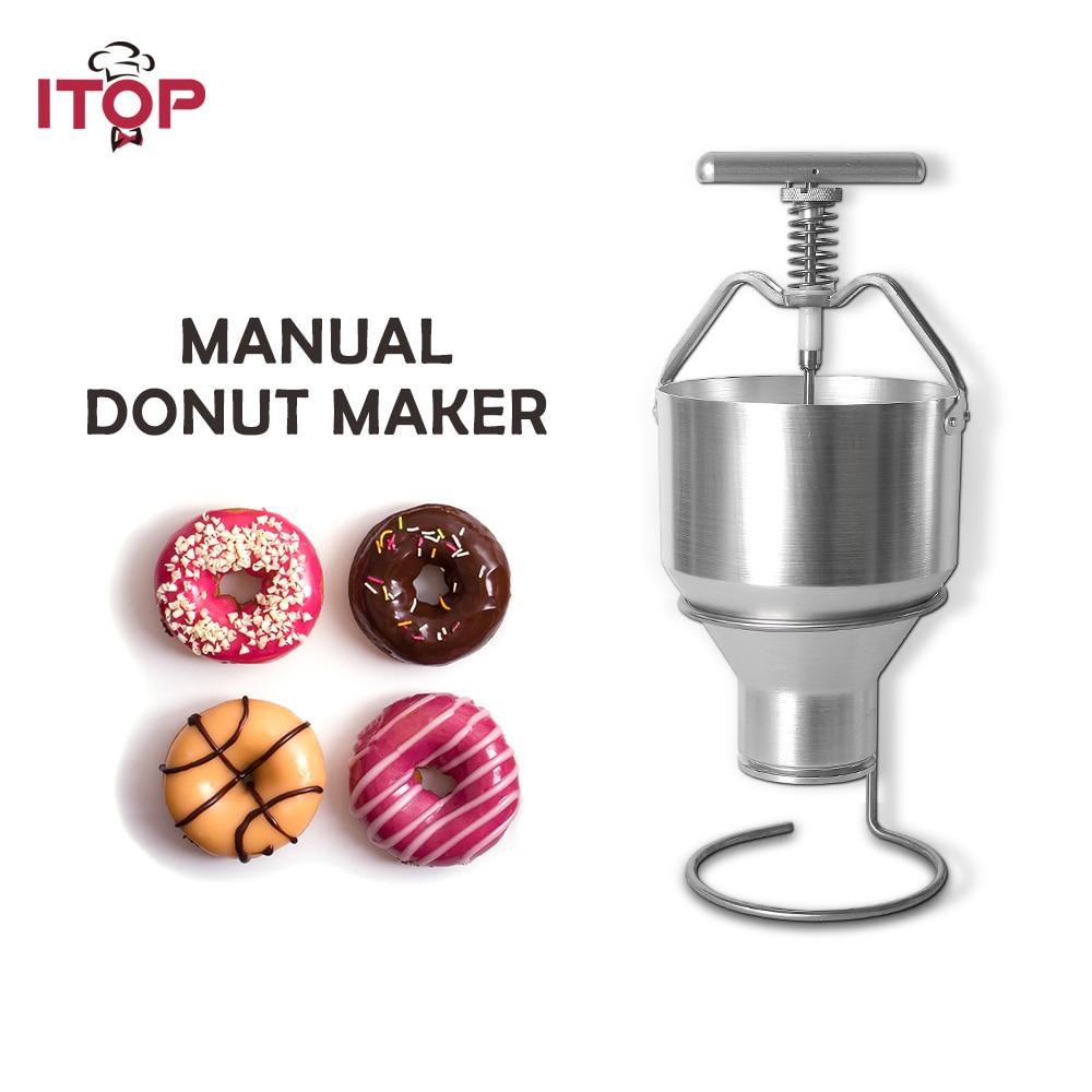 ITOP الفولاذ المقاوم للصدأ 2.5L صانعة حلوى الدونات موزع الوافل دونات قالب آلة وجبات خفيفة غذاء سهل التحضير المعالج تعديل الحجم