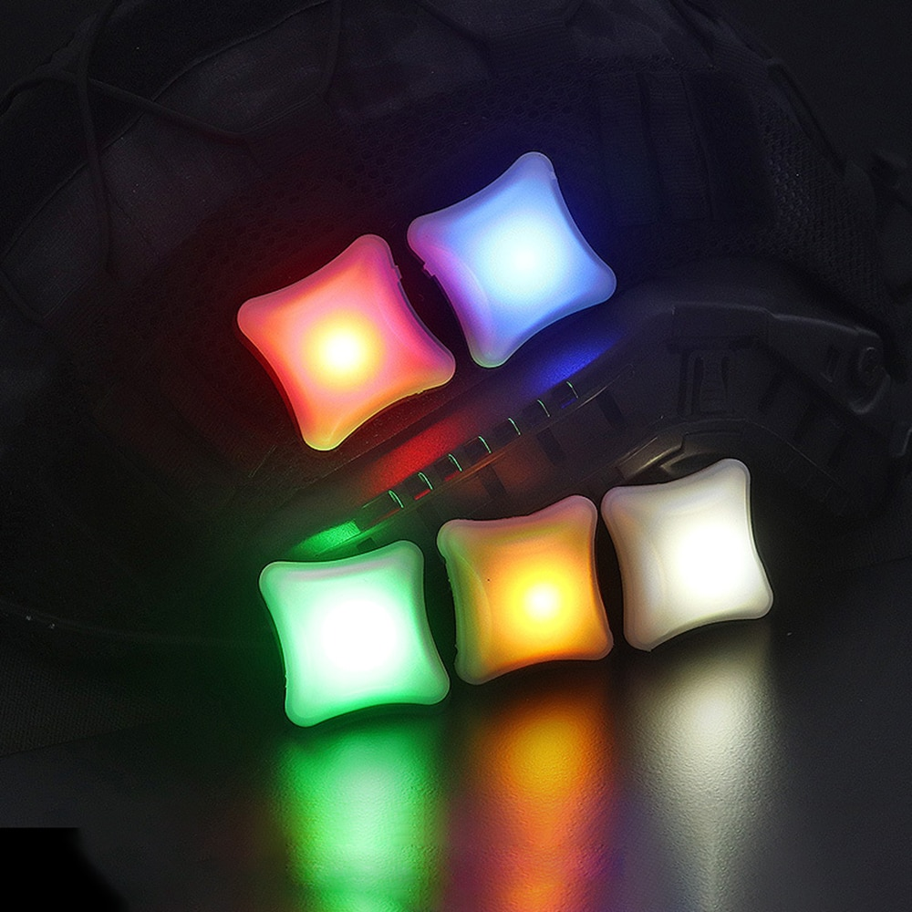 Ao ar livre sinal tático led luz velcro indicadores capacete luz da lâmpada de sobrevivência à prova dwaterproof água militar molle caça colete led luz