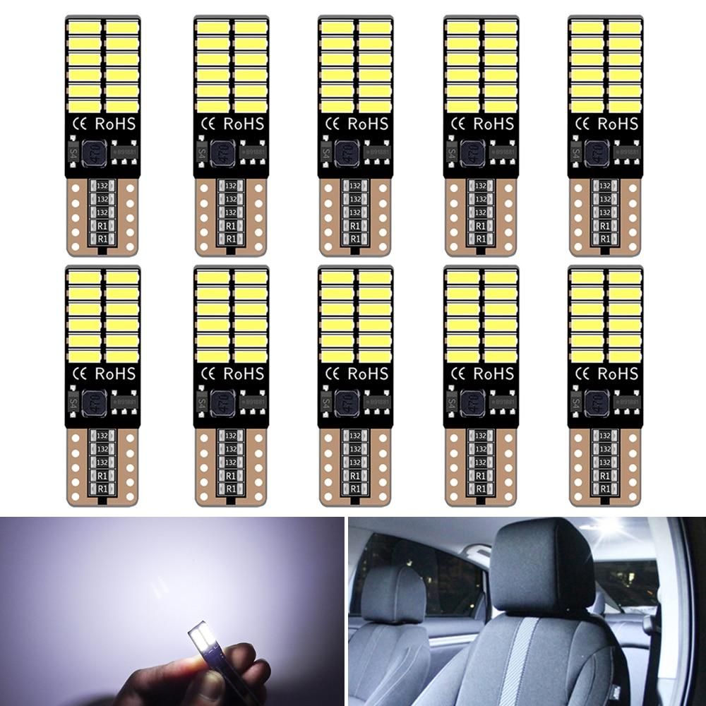10x T10 W5W светодиодный интерьер автомобиля лампы для Renault Duster Megane 2 3 Logan Clio Fluence Captur Sandero Лагуна светодиодный s для автомобиля 12V