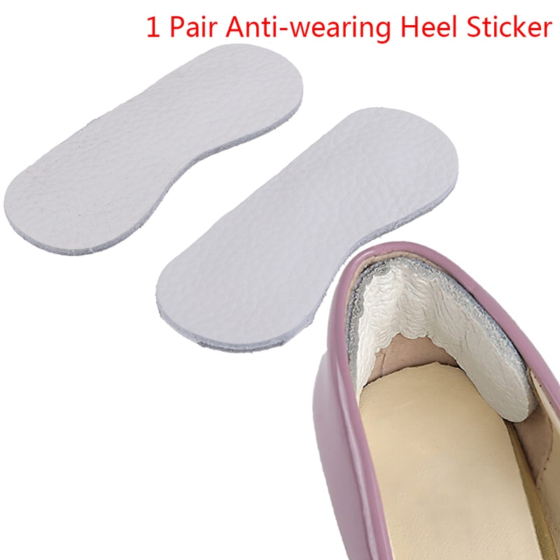 2pcs Leather Cushion Insole Insert Heel Liner Grips High Heel Feet Care Accessories Anti-wearing Hee