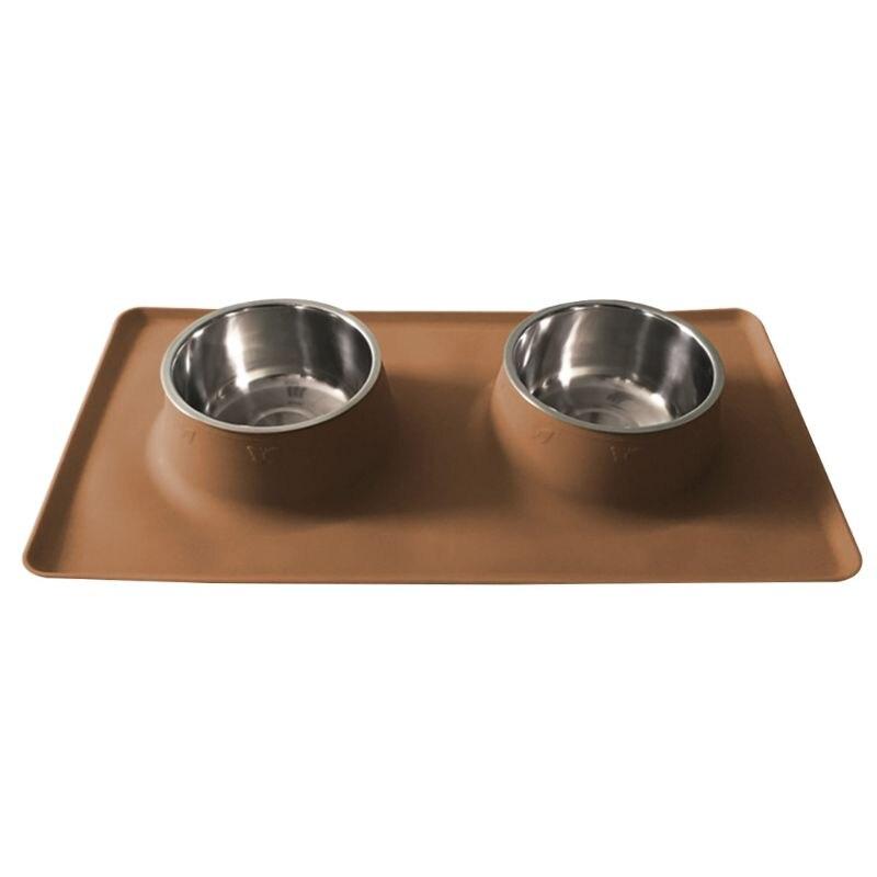 Double bol de chien dalimentation pour animaux de compagnie intégré par Silicone de ventouse Durable étanche