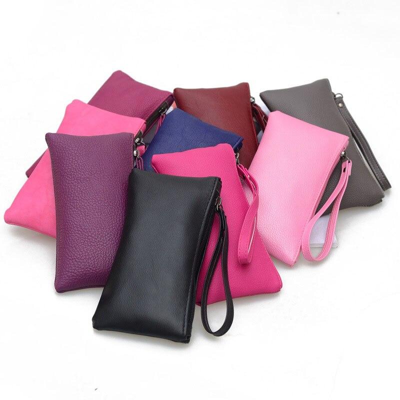 Femmes longue pochette portefeuille porte-monnaie bracelet grande capacité portefeuilles Simple en cuir portefeuille de haute qualité dame sacs à main téléphone poche
