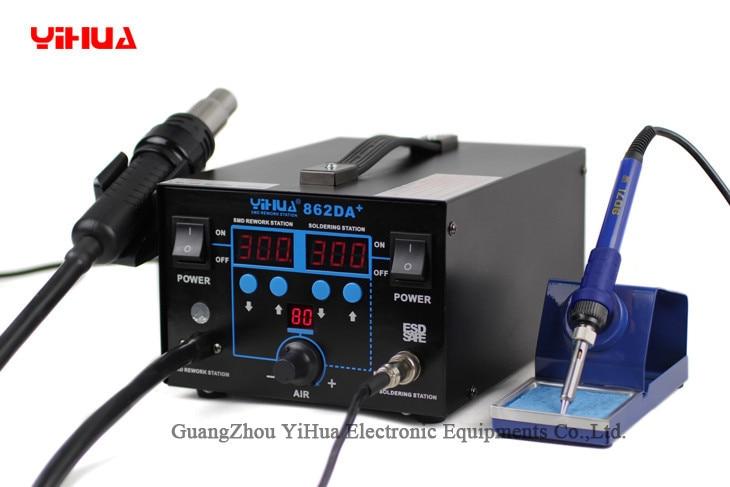 YIHUA 862DA+ Air Pump Type Heat Gun Soldering Station 2 In 1 Antistatic Hot Air Gun Desoldering Station Repair Soldering Iron enlarge