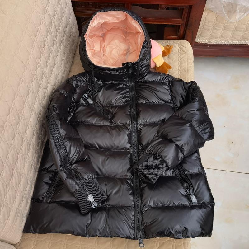 2021New المرأة معطف الشتاء سترة قصيرة بطة أسفل حشو الإناث سترة موضة ملابس كاجوال سحاب أسود ملابس خارجية