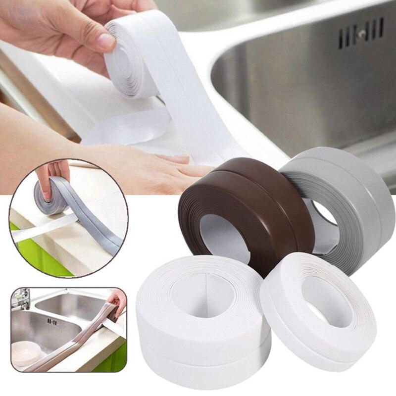 Fita adesiva resistente ao calor resistente a óleo do oídio da prova do molde da fita impermeável da selagem da parede do banheiro da cozinha material do pvc Fita    -
