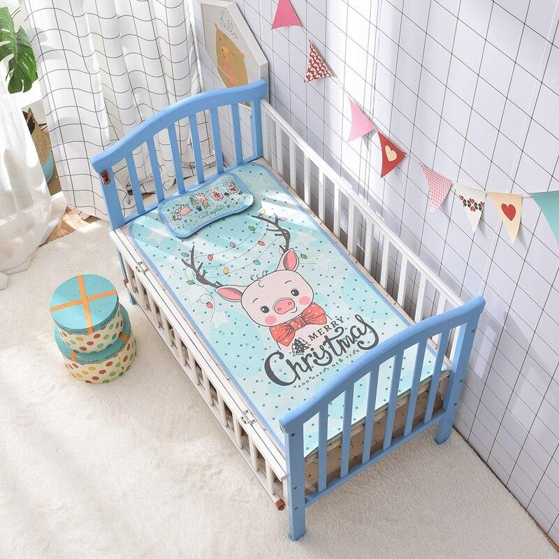Summer baby bed mat 2pcs/set cool floding mat sheet +pillow 0-5 years sleeping mat kit cartoon Child bed cover 60*120cm boy girl