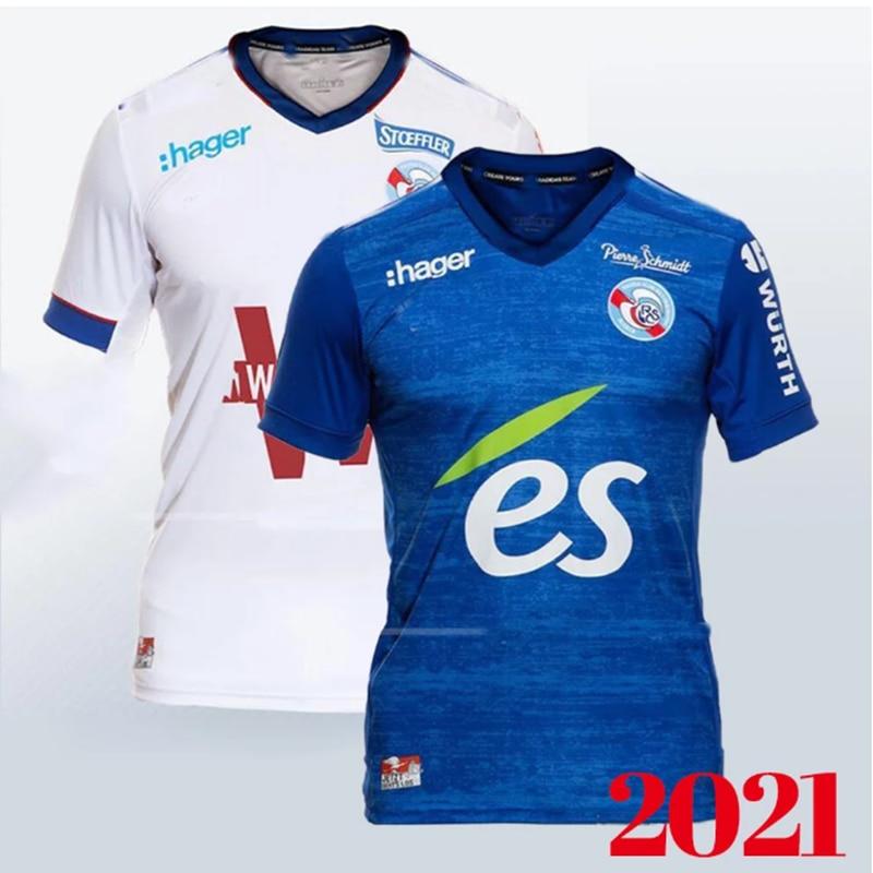 Romance de 20/21! Maillot de fútbol de strasburg, maillot de torta 2021 2020 zohi 26 thomasson lienard lala sissoko, camisa